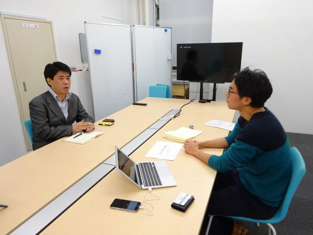 インタビューは、ハフィントンポスト日本版オフィスで行われた
