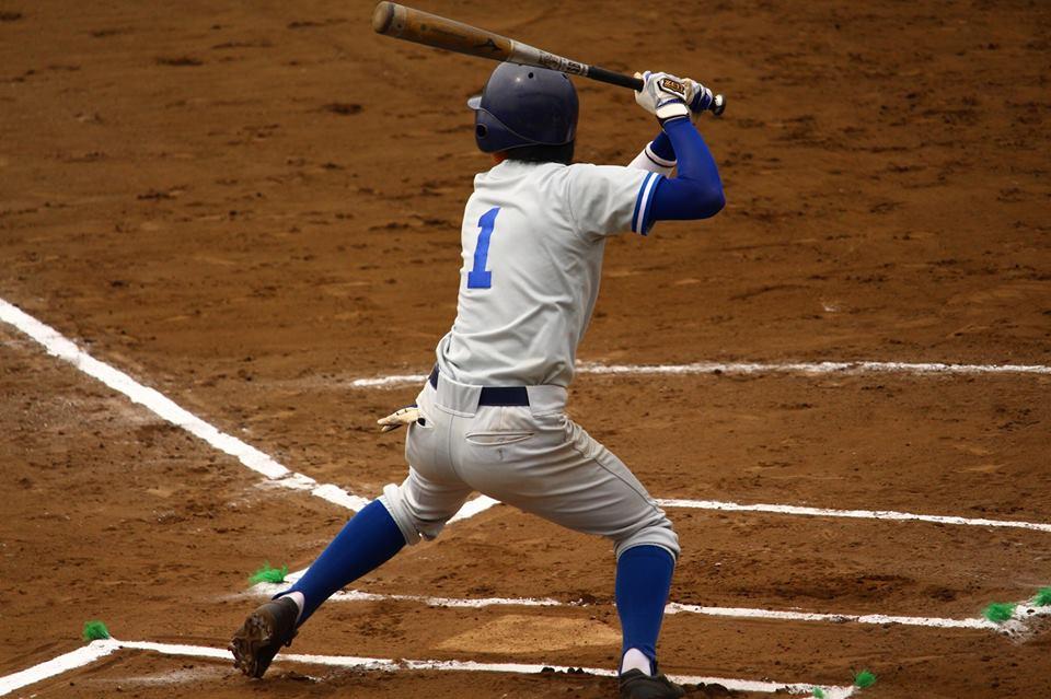 三塁打を放ち5試合連続安打とした吉井選手(写真は軟式野球部提供)