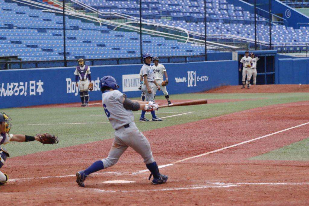 九回裏にサヨナラ打を放った山田選手