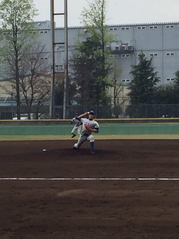 完投勝利を収めた大川投手(写真は軟式野球部提供)