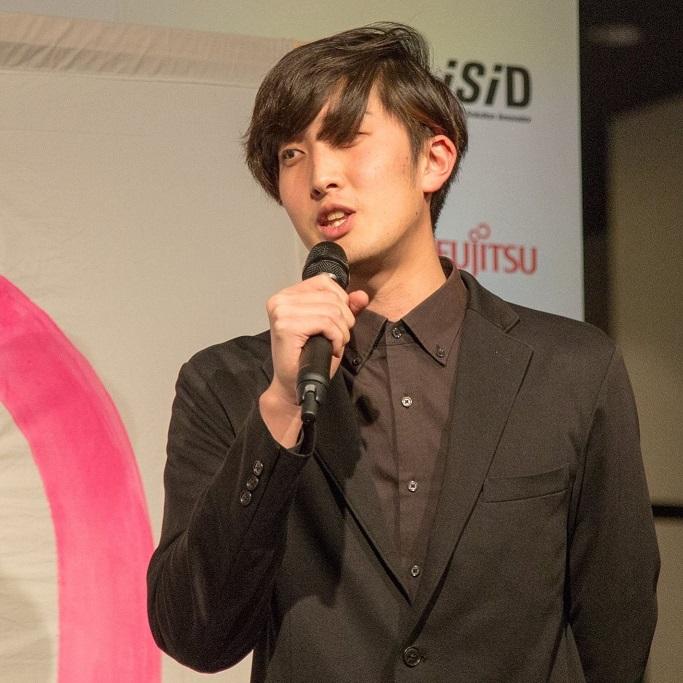 イベントで企画の概要説明をする永田さん(写真は永田さん提供)