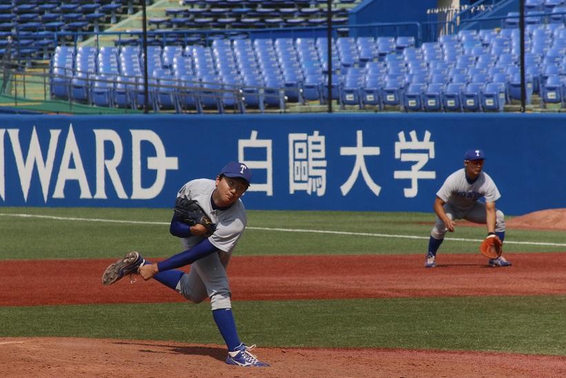 宮台投手が粘り強い投球でチームに3勝目をもたらした(撮影・関根隆朗)