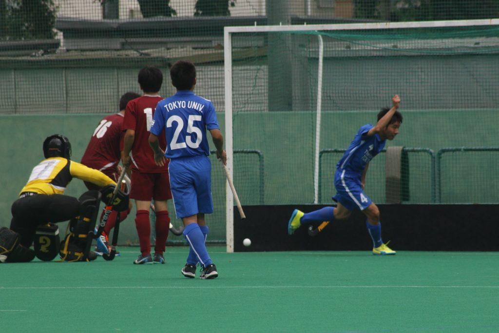 野瀬選手(#4)のゴールで一時1点差とする(撮影・関根隆朗)