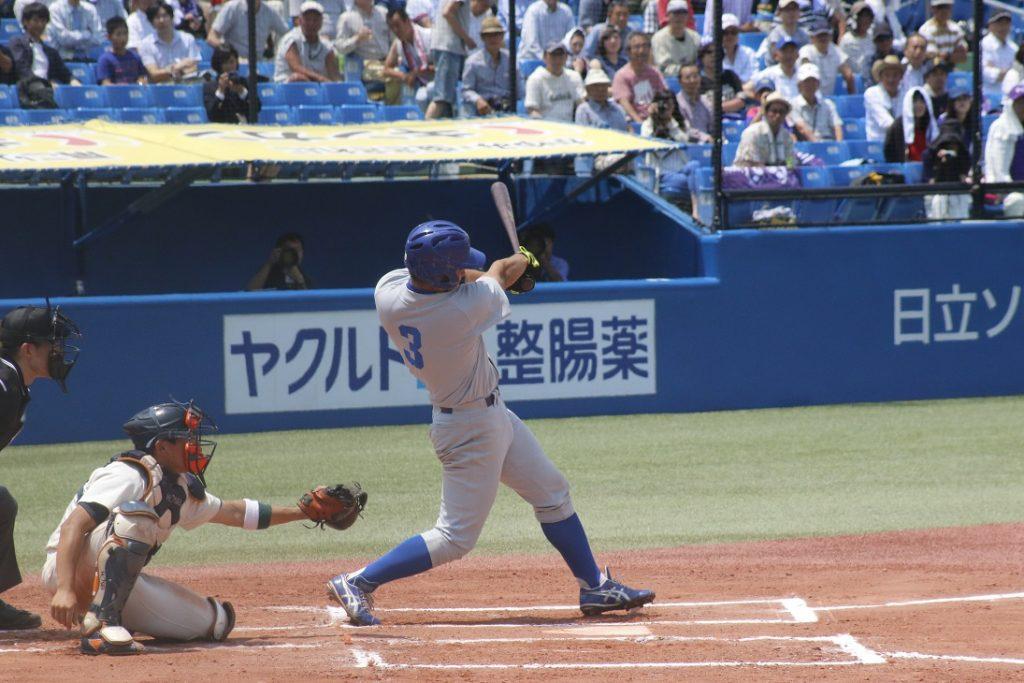 4番田口選手が2日連続で適時打を放つ(撮影・関根隆朗)