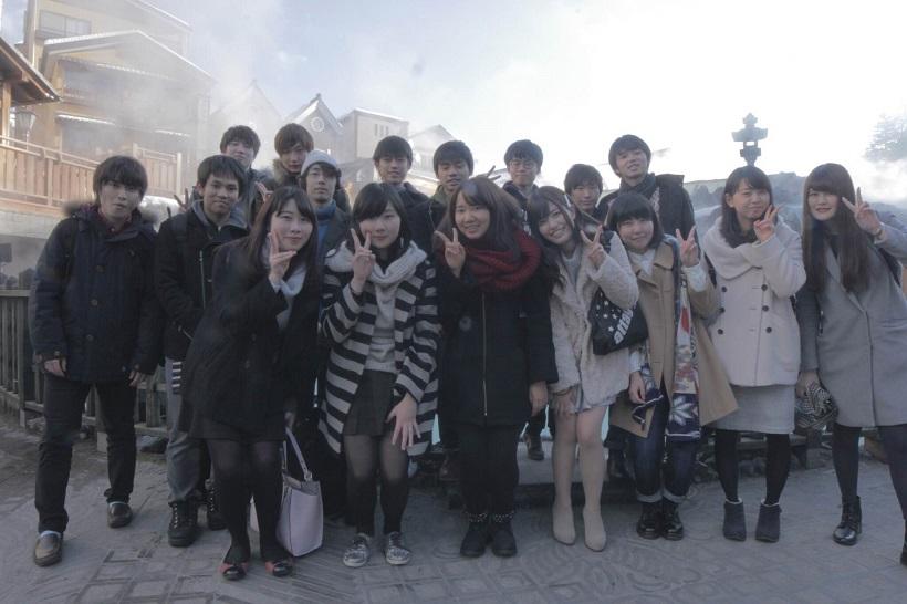冬合宿では草津温泉を訪れた(写真は温泉サークルOKR提供)