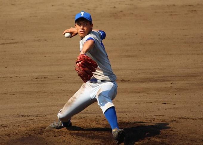 先発の大川投手(写真は軟式野球部提供)