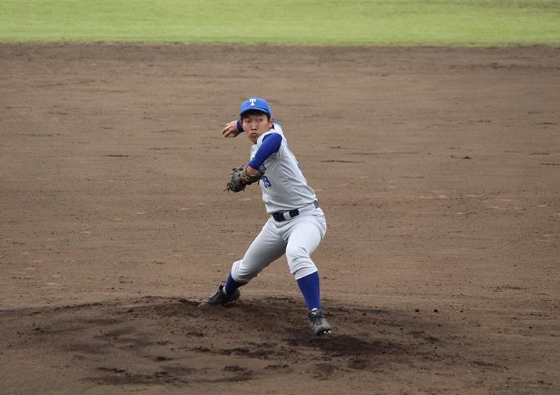 東大先発の西野投手(写真は軟式野球部)