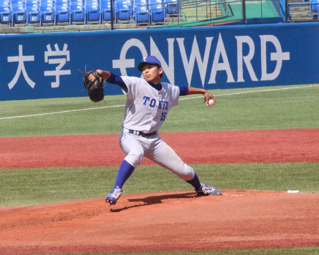 初登板初先発の1年生左腕・山下投手はほろ苦いデビュー戦となった(撮影・関根隆朗)