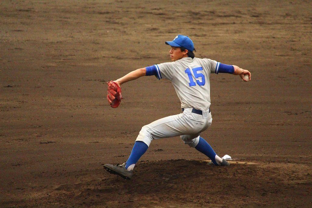 東大先発の大川投手(写真は軟式野球部提供)