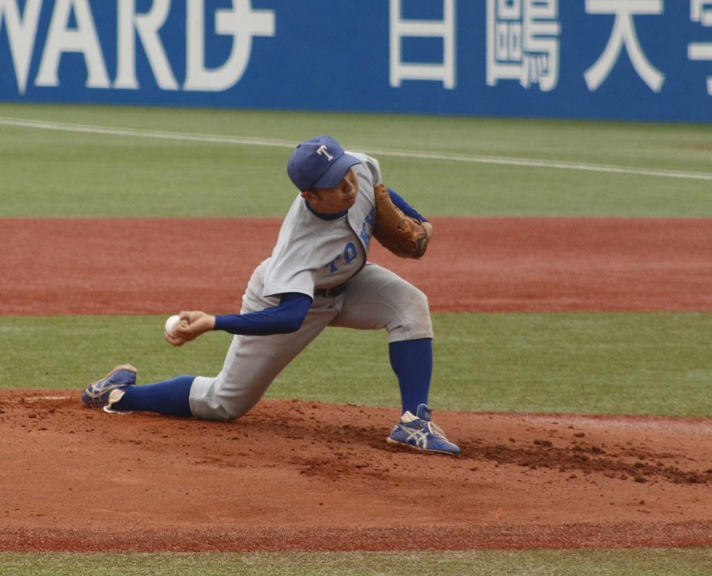 三木投手は3連投ながら七回2失点の好投を見せた(撮影・関根隆朗)