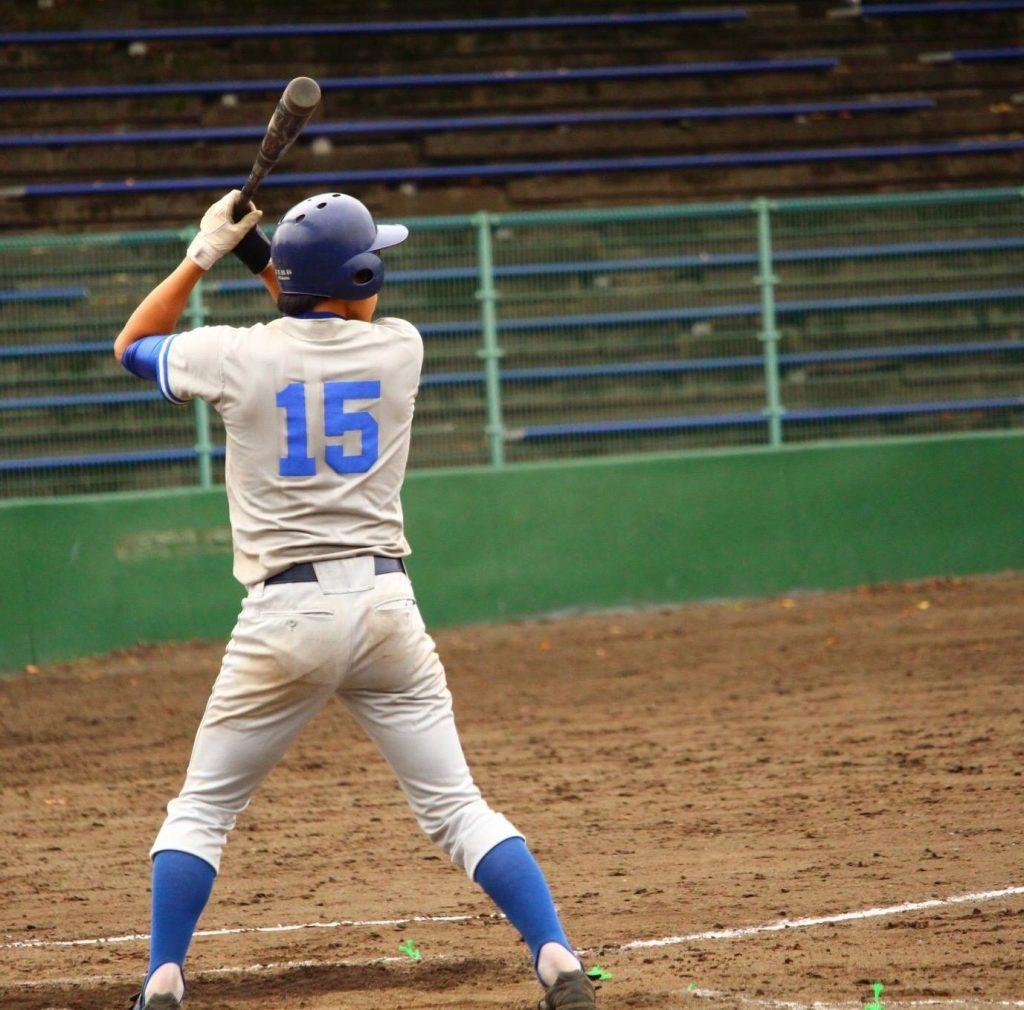 大川選手の安打から先制点が生まれる(写真は軟式野球部提供)