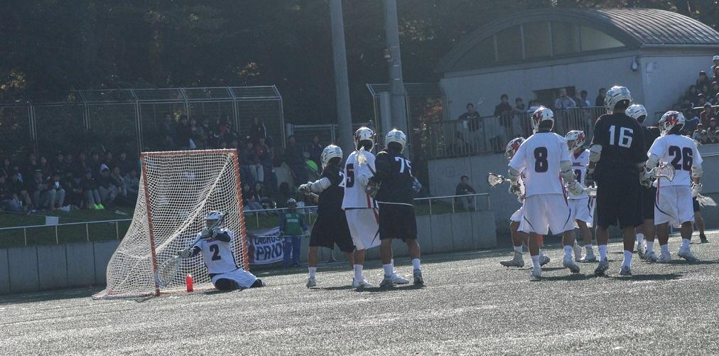 第2Q、近藤選手のチーム初得点で反撃ののろしを挙げる(撮影・竹内暉英)