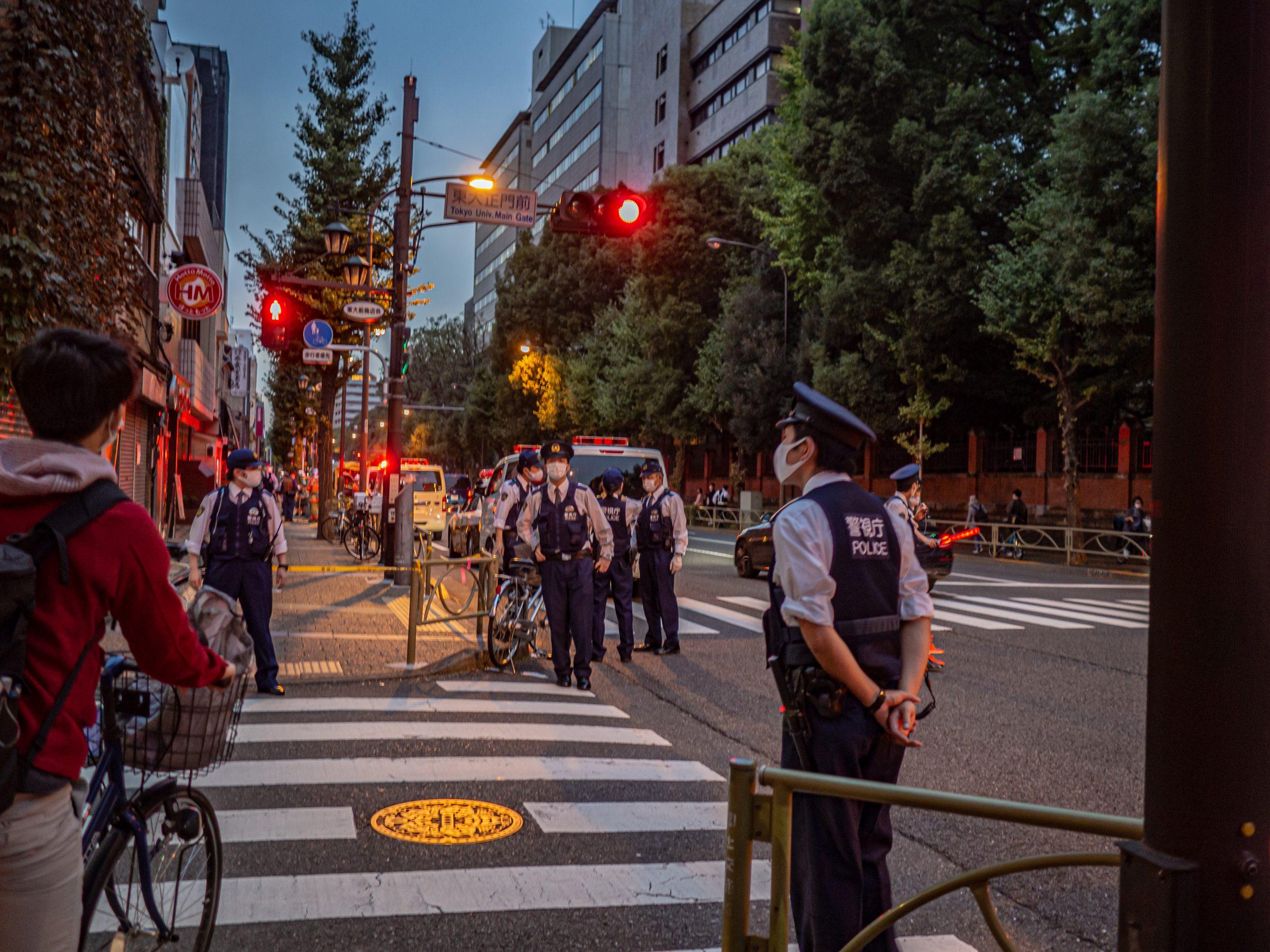本郷通りに規制線 ガス漏れで | 東大新聞オンライン